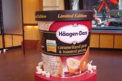 Giant size Haagen Dazs ice cream container