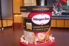 Giant size Haagen Dazs ice cream container