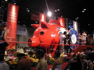 Colorful Mexican Piggy Bank excites the crowds for Bank of America
