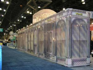 Exhibit Booth design - Old NY architecture